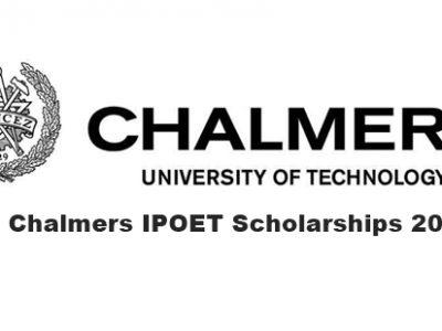 Chalmers IPOET Scholarships 2020 2021