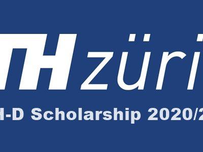 ETH Zurich ETH-D Scholarship 2020/2021