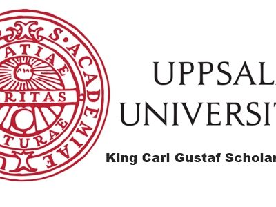 King Carl Gustaf Scholarship 2020 at Uppsala University, Sweden