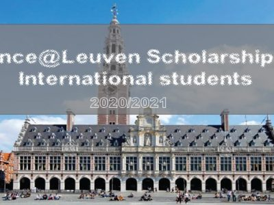 Science@Leuven Scholarship 2020/2021 for International Students