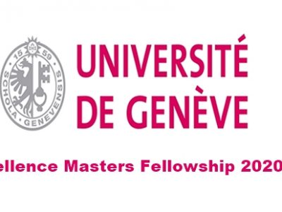 University of Geneva Excellence Masters Fellowship 2020 2021