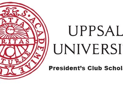 Uppsala University, Sweden President's Club Scholarship 2020