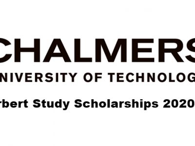 Adlerbert Study Scholarships 2020-2021 at Chalmers University of Technology