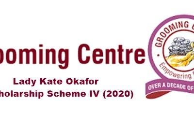 Grooming Centre Lady Kate Okafor Scholarship Scheme IV (2020)