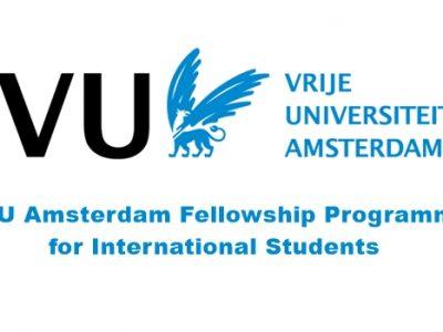 VU Amsterdam Fellowship Programme 2020/2021 for International Students
