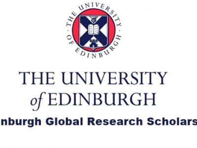 Edinburgh Global Research PhD Degree Scholarships for International students