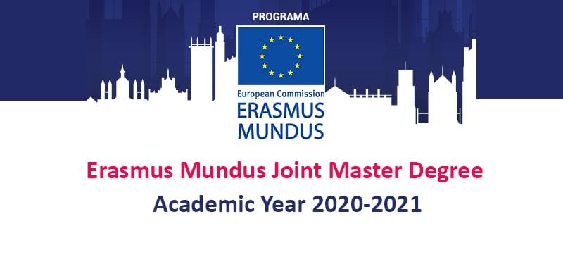 Erasmus Mundus Joint Master Degree Scholarships 2020