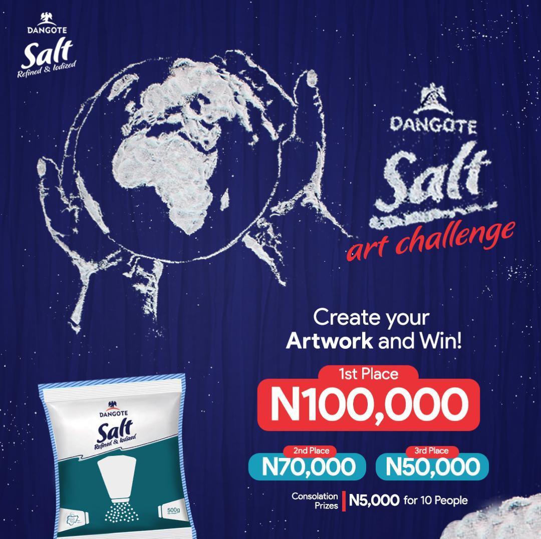 Dangote Salt Art Challenge 2020 (Get Creative and Win)