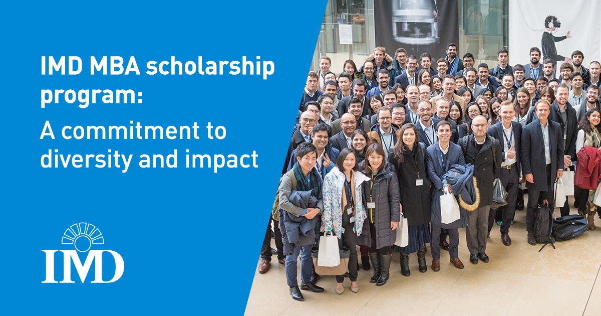 IMD MBA Diversity Scholarships in Switzerland 2020/2021