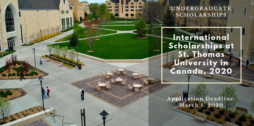 International Awards at St. Thomas University in Canada