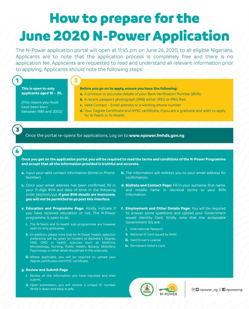Npower Guide 2020