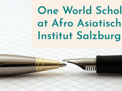One World Scholarship at Afro Asiatisches Institut Salzburg