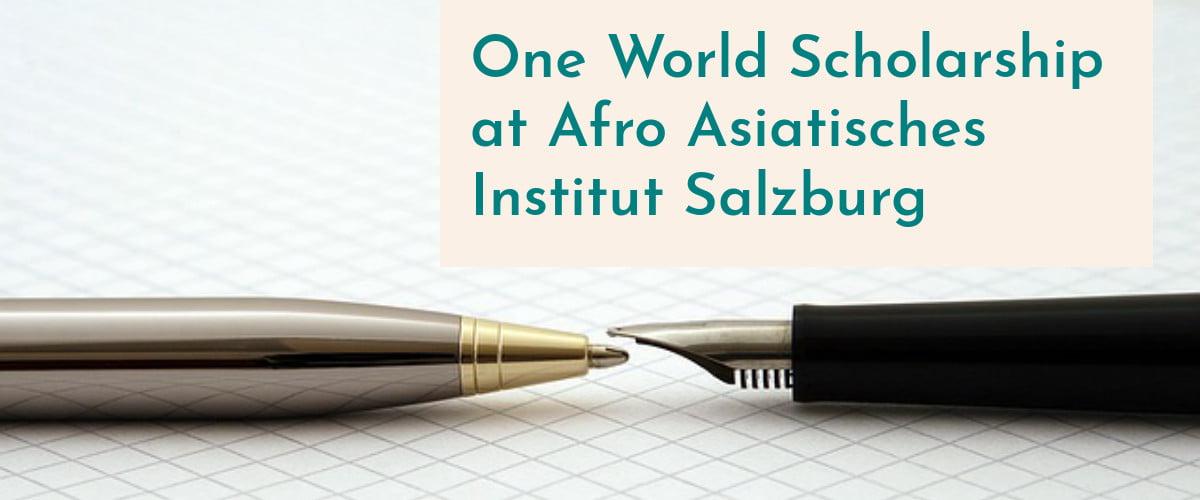 One World Scholarship at Afro Asiatisches Institut Salzburg
