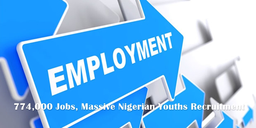 774,000 Jobs, Massive Nigerian Youths Recruitment