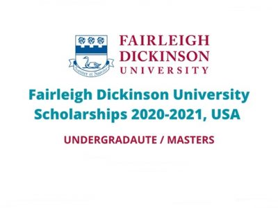 Fairleigh Dickinson Scholarships for International Students 2021/2022