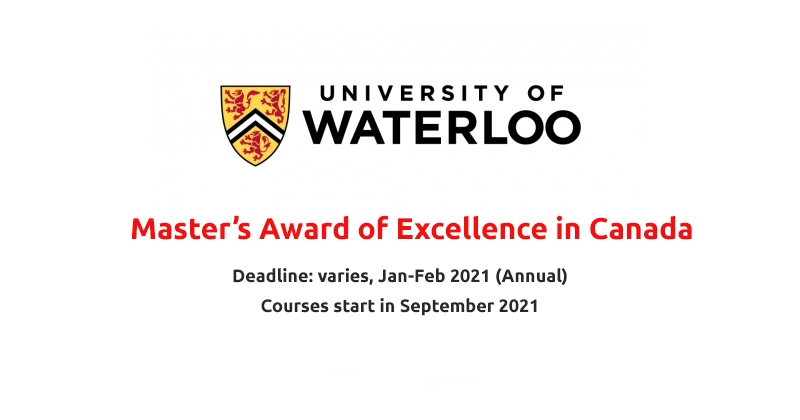 Waterloo International Master's Award of Excellence